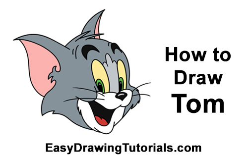 How to Draw Tom from Tom and Jerry