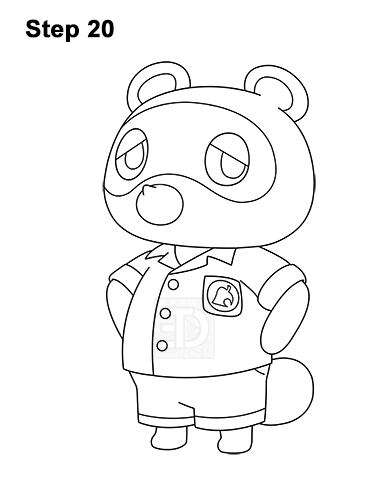 How to Draw Tom Nook Animal Crossing Nintendo 20