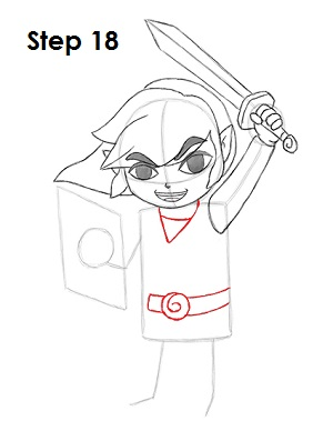 Draw Toon Link 18