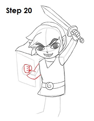 Draw Toon Link 20