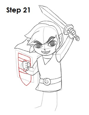 Draw Toon Link 21