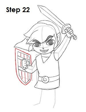 Draw Toon Link 22