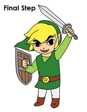 Draw Toon Link
