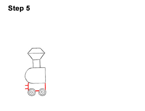 How to Draw Cartoon Choo Choo Train Locomotive 5