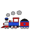 How to Draw Choo Choo Train Engine