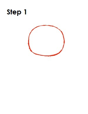 How to Draw Tweety Bird Step 1