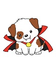 How to Draw Cute Puppy Dog in Halloween Vampire Costume Cape