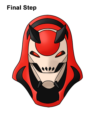 How to Draw Fortnite Vendetta Skin Mask Max Red