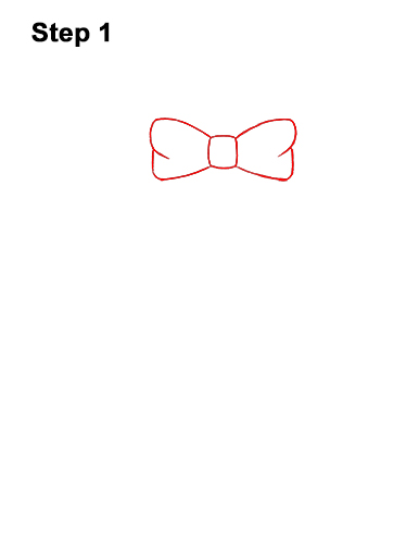 How to Draw a Christmas Wreath Bow 1