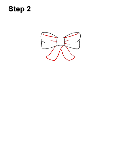 How to Draw a Christmas Wreath Bow 2