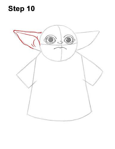 How to Draw The Child Baby Yoda Mandalorian Star Wars 10