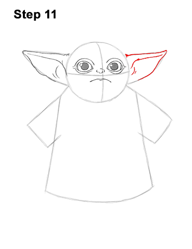How to Draw The Child Baby Yoda Mandalorian Star Wars 11