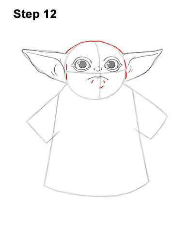 How to Draw The Child Baby Yoda Mandalorian Star Wars 12
