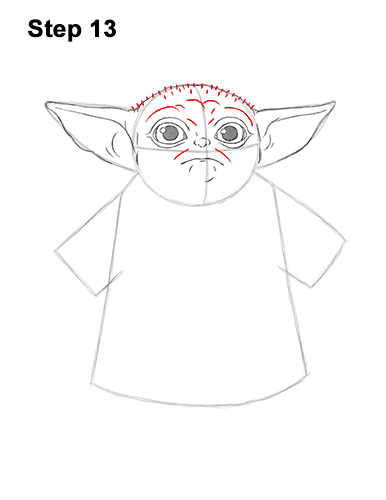 How to Draw The Child Baby Yoda Mandalorian Star Wars 13