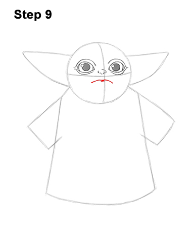 How to Draw The Child Baby Yoda Mandalorian Star Wars 9