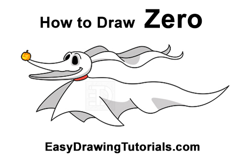 How to Draw Zero Ghost Dog Nightmare Before Christmas