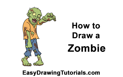 How to Draw Cartoon Zombie Undead Halloween