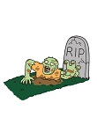 How to Draw Zombie Coming out of Grave Tombstone