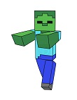 How to Draw Zombie Mob Walking Minecraft